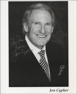 JON CYPHER - AUTOGRAPHED INSCRIBED PHOTOGRAPH