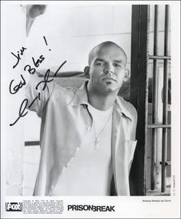 AMAURY NOLASCO - AUTOGRAPHED INSCRIBED PHOTOGRAPH