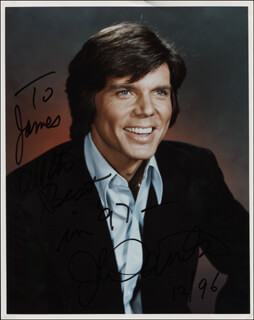 JOHN DAVIDSON - AUTOGRAPHED INSCRIBED PHOTOGRAPH 12/1996