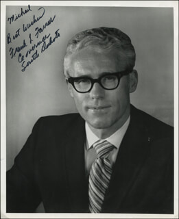 GOVERNOR FRANK L. FARRAR - AUTOGRAPHED INSCRIBED PHOTOGRAPH