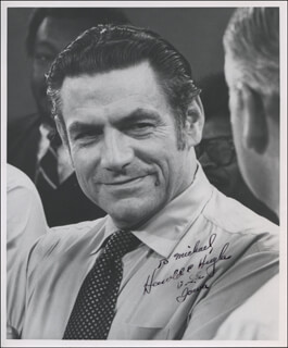 HAROLD E. HUGHES - AUTOGRAPHED INSCRIBED PHOTOGRAPH