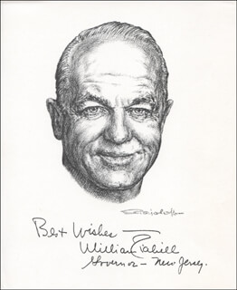Autographs: GOVERNOR WILLIAM T. CAHILL - PRINTED ART SIGNED