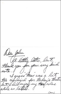 RICHARD KILEY - AUTOGRAPH LETTER SIGNED