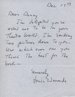 LOUIS EDMONDS - AUTOGRAPH LETTER SIGNED 12/17