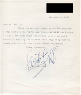 PATRICK TULL - TYPED LETTER SIGNED 12/09/1981