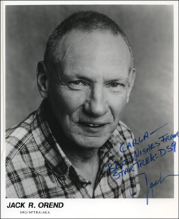 JACK R. OREND - AUTOGRAPHED INSCRIBED PHOTOGRAPH