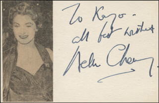 HELEN CHERRY - AUTOGRAPH NOTE SIGNED