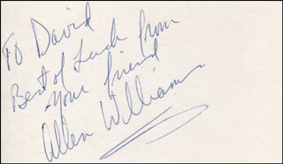 ALLEN WILLIAMS - AUTOGRAPH NOTE SIGNED