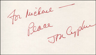 JON CYPHER - AUTOGRAPH NOTE SIGNED