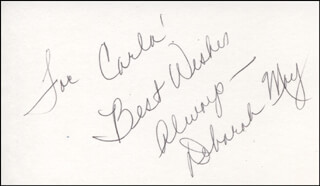 DEBORAH S. MAY - AUTOGRAPH NOTE SIGNED