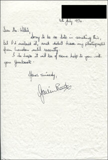 GAVIN REED - AUTOGRAPH LETTER SIGNED 07/16/1974