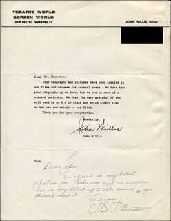 TED THURSTON - AUTOGRAPH LETTER SIGNED