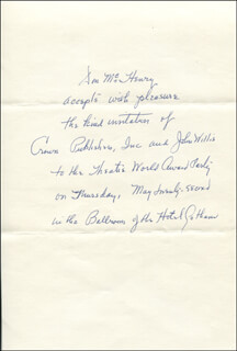 DON McHENRY - AUTOGRAPH STATEMENT SIGNED