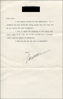 NORMAN MACDONALD - TYPED LETTER SIGNED CIRCA 1980