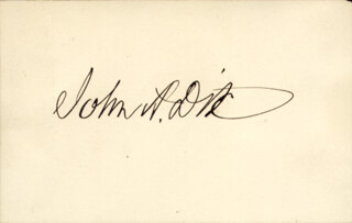 Autographs: MAJOR GENERAL JOHN A. DIX - SIGNATURE(S)