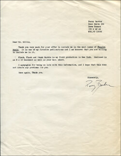 PERRY BARDEN - TYPED LETTER SIGNED