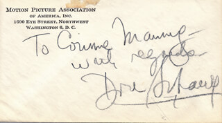 DORE SCHARY - AUTOGRAPH NOTE SIGNED