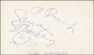 SUSAN STRASBERG - INSCRIBED SIGNATURE