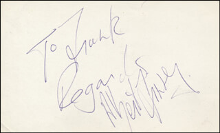 ALBERT FINNEY - AUTOGRAPH NOTE SIGNED