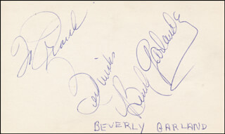 BEVERLY GARLAND - AUTOGRAPH NOTE SIGNED