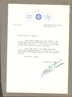 LOWELL THOMAS - TYPED LETTER SIGNED