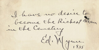 ED WYNN - AUTOGRAPH QUOTATION SIGNED 1935