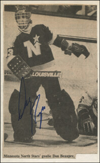 DON BEAUPRE - NEWSPAPER PHOTOGRAPH SIGNED