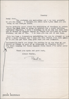 PAULA LAURENCE - TYPED LETTER SIGNED
