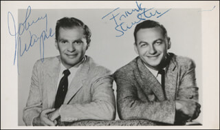 WAYNE AND SHUSTER - AUTOGRAPHED SIGNED PHOTOGRAPH CO-SIGNED BY: JOHNNY WAYNE, FRANK SHUSTER