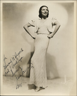 JEAN SARGENT - AUTOGRAPHED INSCRIBED PHOTOGRAPH 1958