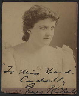 GRACE KIMBALL - AUTOGRAPHED INSCRIBED PHOTOGRAPH