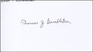 Autographs: BISHOP THOMAS J. GUMBLETON - SIGNATURE(S)