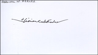 Autographs: WILLIAM HENRY CARDINAL KEELER - SIGNATURE(S)