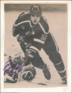 ESA TIKKANEN - NEWSPAPER PHOTOGRAPH SIGNED