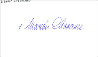 Autographs: BISHOP MARIAN CHOVANEC - SIGNATURE(S)