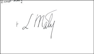 Autographs: BISHOP LEON MALY - SIGNATURE(S)