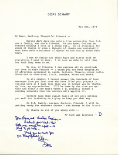 DORE SCHARY - AUTOGRAPH LETTER SIGNED 05/08/1979