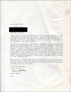 ROBIN SWADOS - TYPED LETTER SIGNED 10/12/1984