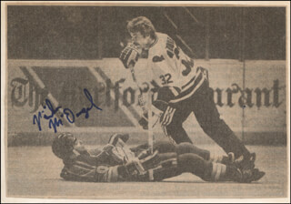 MIKE MCDOUGAL - NEWSPAPER PHOTOGRAPH SIGNED
