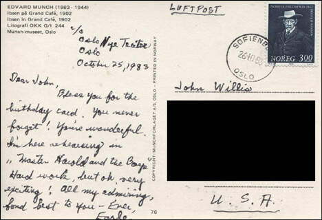 EARLE HYMAN - AUTOGRAPH LETTER SIGNED 10/25/1983