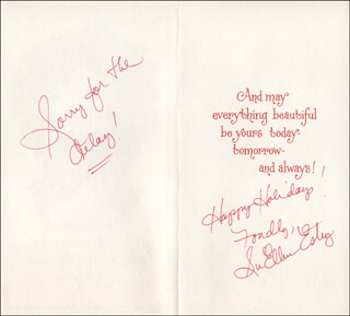 SUELLEN ESTEY - CHRISTMAS / HOLIDAY CARD SIGNED