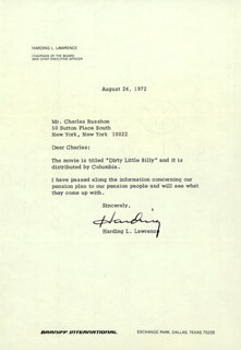 HARDING LAWRENCE - TYPED LETTER SIGNED 08/24/1972