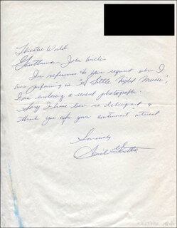 AVRIL GENTLES - AUTOGRAPH LETTER SIGNED 11/04/1985