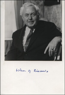PRIME MINISTER HAROLD WILSON (GREAT BRITAIN) - PHOTOGRAPH MOUNT SIGNED