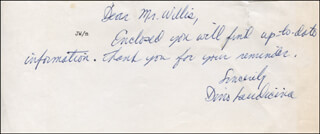 DINO LAUDICINA - AUTOGRAPH NOTE SIGNED