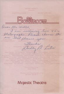 DOROTHY D. LISTER - AUTOGRAPH LETTER SIGNED