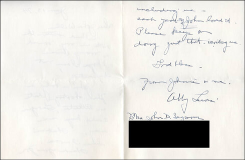 ABBY LEWIS - AUTOGRAPH LETTER SIGNED 06/13/1974