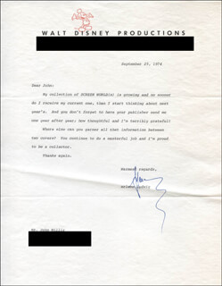 ARLENE LUDWIG - TYPED LETTER SIGNED 09/25/1974