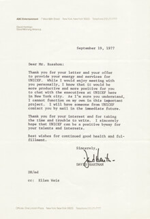 DAVID D. HARTMAN - TYPED LETTER SIGNED 09/19/1977