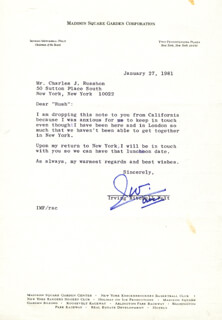 IRVING FELT - TYPED LETTER SIGNED 01/27/1981